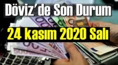 24 kasım 2020 Salı Ekonomi'de Döviz piyasası, Döviz güne nasıl başladı
