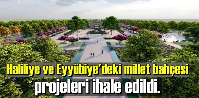 Haliliye ve Eyyübiye'deki millet bahçesi projeleri ihale edildi.