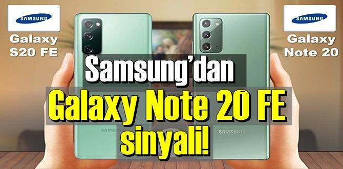Samsung Galaxy Note 20 FE için ilk sızıntı geldi!