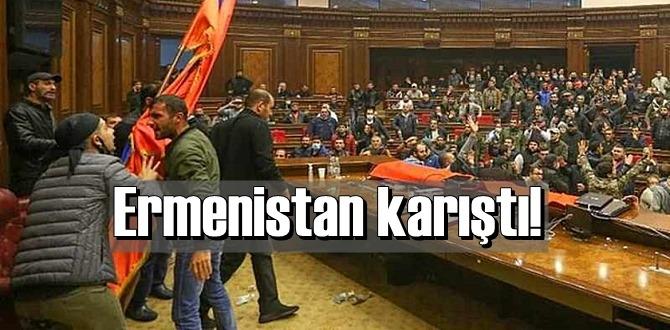Ermenistan karıştı! yenilgiyi kabullenmeyen halk isyan etti!
