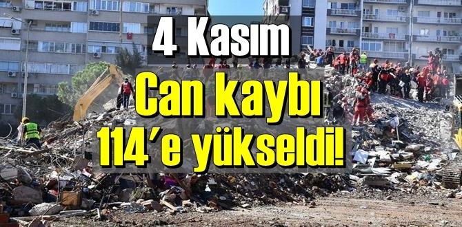 Bugün 4 kasım İzmir'de an itibaren Can kaybı 114'e yükseldi!