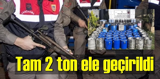 Jandarma Operasyon yaptı, 2 ton ele geçirildi!