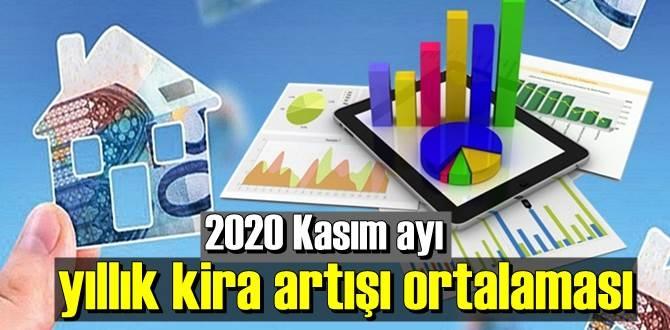2 kasım 2020, Kasım ayı yıllık kira artışı ortalaması yüzde 12