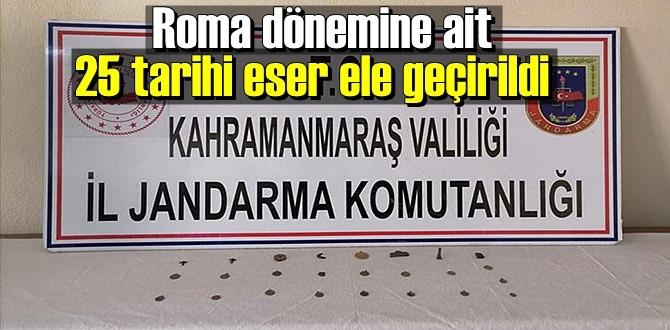 Kahramanmaraş'ta tarihi eser operasyonu, tarihi sikkeler ele geçirildi!