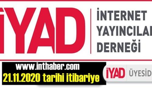 www.inthaber.com adlı Web Haber SİTEMİZ İYAD ÜYESİ OLDU