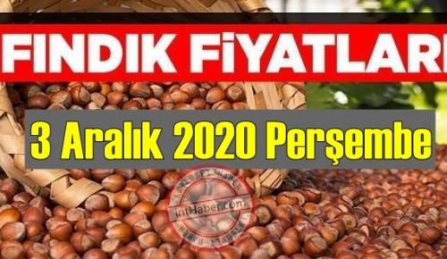 3 Aralık 2020 Perşembe Türkiye günlük Fındık piyasası, Fındık bugüne nasıl başladı