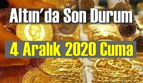 4 Aralık 2020 Cuma Ekonomi'de Altın piyasası, Altın güne nasıl başlıyor