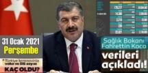 Sıkıntı devam ediyor! 31 Aralık 2020 Perşembe/ Türkiye Koronavirüs veri tablosu açıklandı