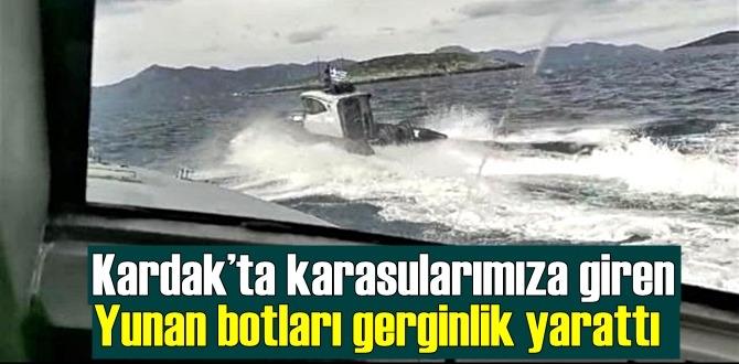 Kardak'ta karasularımıza giren Yunan botları gerginlik yarattı