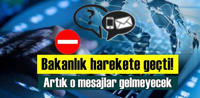 SMS, e posta ve sesli aramalar sizi rahatsız edemeyecek!