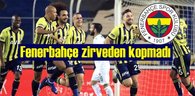 Süper Lig'in 17. haftasında Fenerbahçe zirveden kopmadı