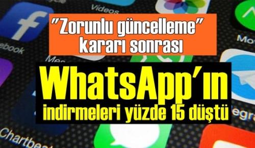WhatsApp Korkuttu! WhatsApp'ın indirmeleri bir anda yüzde 15 düştü!
