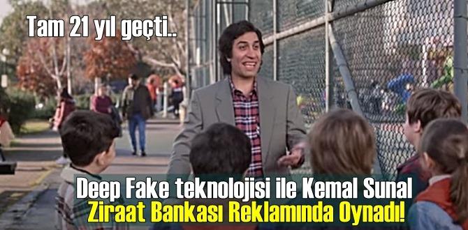 Deep Fake teknolojisi ile Kemal Sunal Ziraat Bankası Reklamında Oynadı!