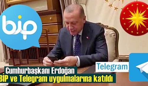 WhatsApp'ın veri politikasına karşı Cumhurbaşkanı Erdoğan BİP ve Telegram uygulamalarına katıldı!