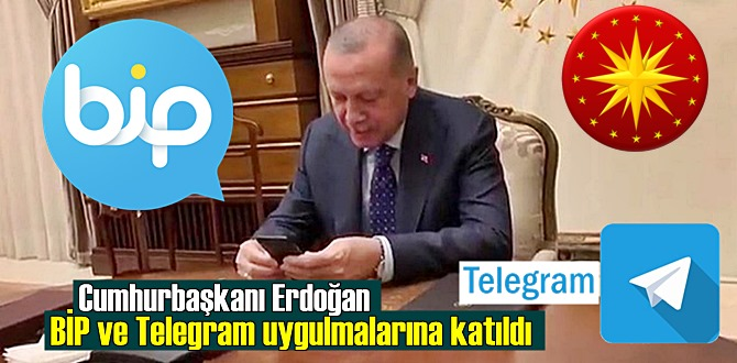 WhatsApp'a karşı Cumhurbaşkanı Erdoğan BİP ve Telegram uygulamalarına katıldı!