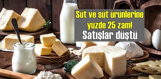 Süt ve süt ürünlerine gelen Zam'lar, Satışları bariz bir şekilde düşürdü!