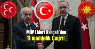 MHP Lideri Bahçeli'den 11 maddelik önemli açıklama!