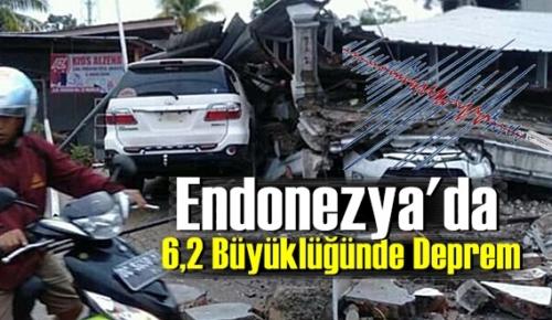 Endonezya'nın Sulawesi adasında 6,2 Büyüklüğünde Deprem! Çok sayıda Ölü var!