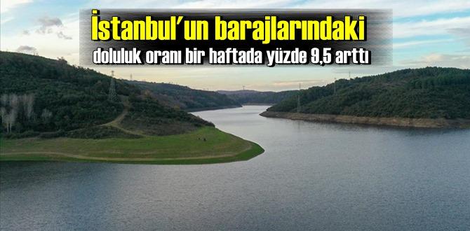 Son Yağışlar ile İstanbul'un barajlarındaki doluluk oranı yüzde 9,5 arttı!