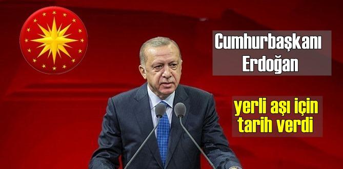 Cumhurbaşkanı Erdoğan yerli aşımız için açıklamalarda bulundu! En geç Nisan..