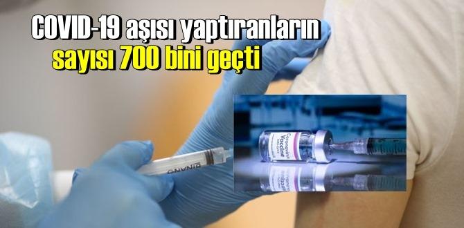 Dün itibaren ( 17 Ocak) Koronavirüs aşısı yaptıranların sayısı 700 bini aştı!