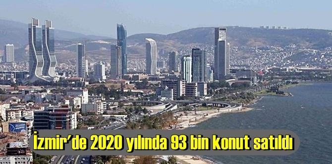 İzmir'de 2020 yılında konut satışları artış gösterdi. İşte tüm istatistikler
