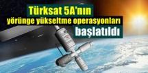 Türksat 5A'nın operasyonları planlandığı şekilde sorunsuz ilerliyor