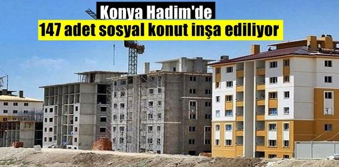 Konya Hadim'de 147 adet sosyal konut inşa ediliyor