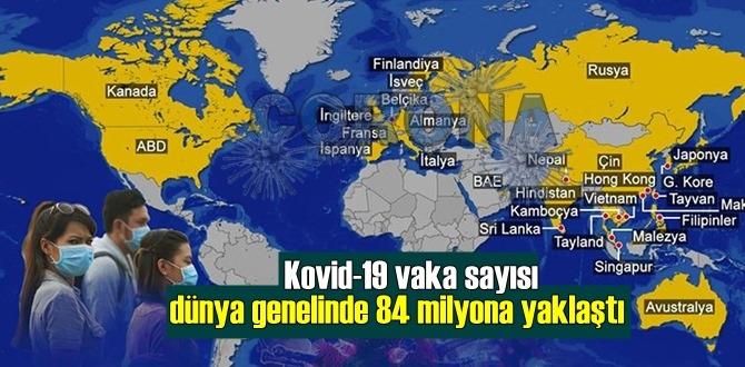 Sayılar güncellendi, Kovid-19 vaka sayısı dünya genelinde 84 milyona yaklaştı!