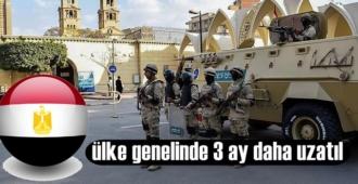 Mısır'da OHAL ülke genelinde 3 ay daha uzatıldı