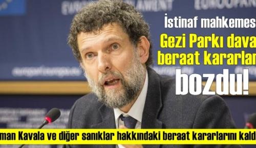 İstinaf mahkemesi Dur dedi! Gezi Parkı davası beraat kararları bozuldu!