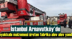 İstanbul Arnavutköy'de ayakkabı malzemesi üreten fabrika alev alev yandı!