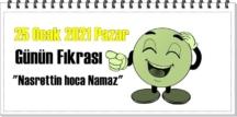 Günün Komik Fıkrası – Nasrettin hoca Namaz / 25 Ocak 2021