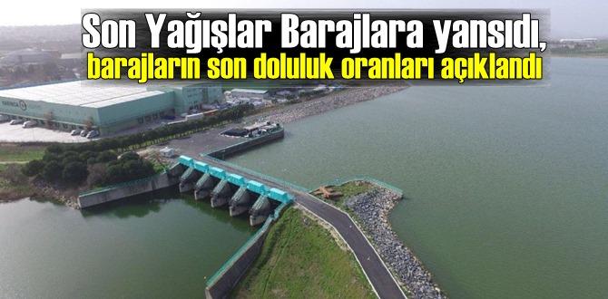 Son Yağışlar Barajlara yansıdı,barajların son doluluk oranları açıklandı!