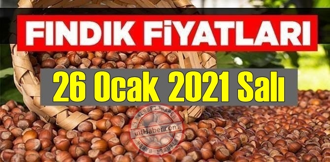 26 Ocak 2021 Salı Türkiye günlük Fındık fiyatları, Fındık bugüne nasıl başladı