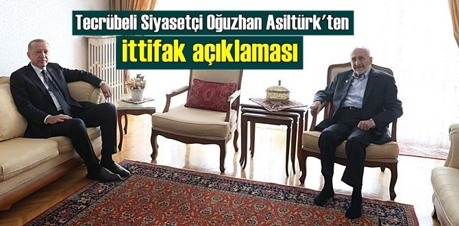 Tecrübeli Siyasetçi Oğuzhan Asiltürk'ten ittifak açıklaması: Zamanı gelince açıklanır!