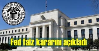 Fed politika faizini değiştirmedi, faizler stabil kaldı!