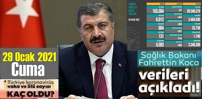 29 Ocak 2021 Cuma/ Türkiye Koronavirüs veri tablosu açıklandı,131 can kaybı!