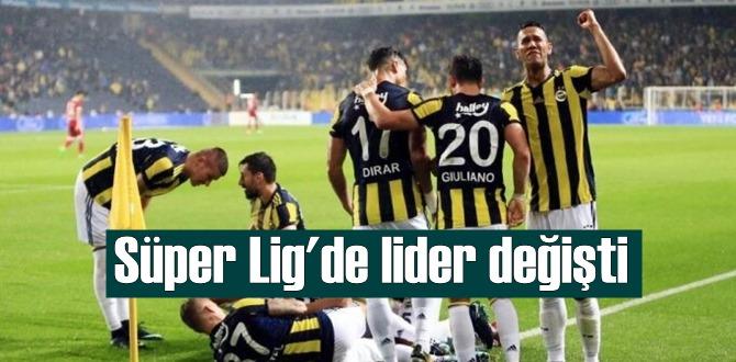 Süper Lig'in 22. haftasında 45 puanla fenerbahçe lider oldu