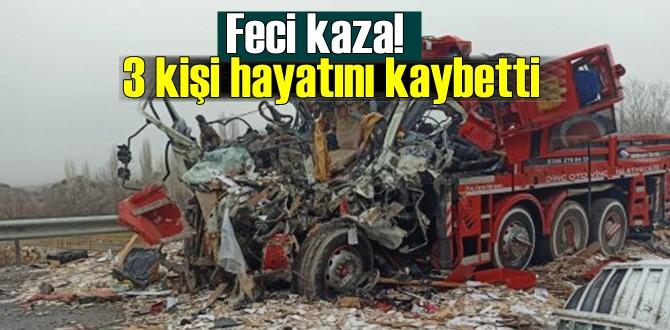 Acı haber, Feci kaza! 3 kişi hayatını kaybetti