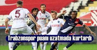 Trabzonspor 1 puanı uzatmalarda alıp oyundan berabere ayrıldı!