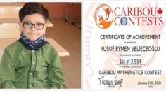 Gurur kaynağı Yusuf Eymen, matematik alanında Dünya Şampiyonu oldu