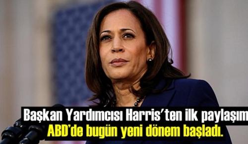 Yeni Başkan Joe Biden'in sağ kolu Kamala Harris: ABD'de bugün yeni dönem başladı