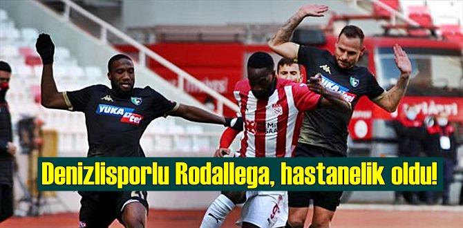 Maçta Kafa kafaya çarpışan Denizlisporlu Rodallega, hastaneye kaldırıldı!