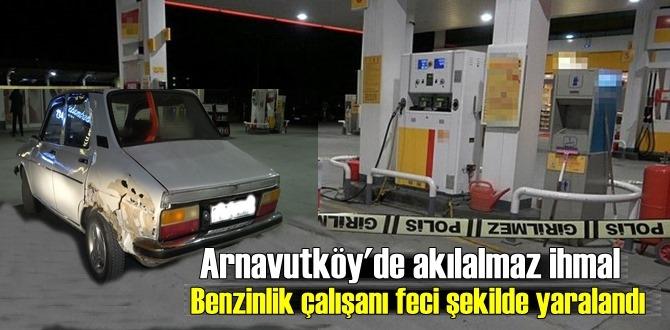 Benzin istasyonunda korkunç kaza! İstasyon çalışanı feci yaraladı!
