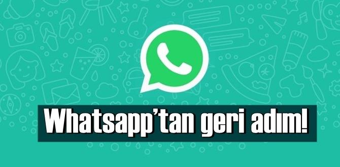 Whatsapp'tan geri adım! Gizlilik sözleşmesi 3 ay ertelendi