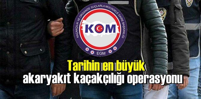 Tarihin en büyük akaryakıt kaçakçılığı operasyonu: 220 kişi gözaltına alındı!