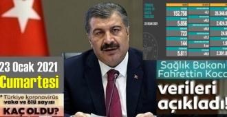 23 Ocak 2021 Cumartesi/ Türkiye Koronavirüs veri tablosu açıklandı, 144 can kaybı!