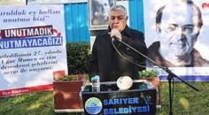Gazeteci ve yazar Uğur Mumcu Unutulmadı! Sarıyer'de sevenleri tarafından anıldı