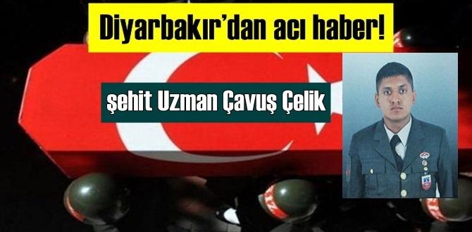 Diyarbakır'dan acı haber! Jandarma Uzman Çavuş Mehmet Çelik şehit düştü